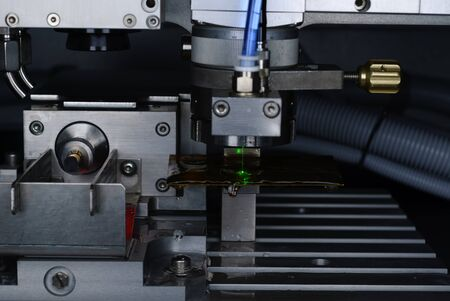 laser cutting: a laser cutting machine at work