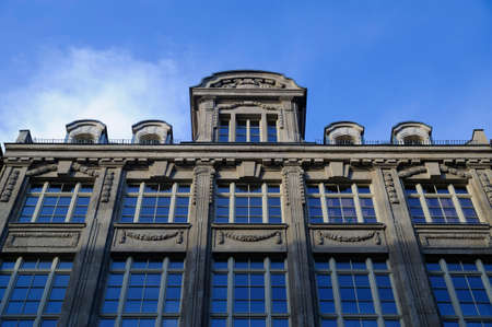 The facade of a historic building in central Leipzig Editorial