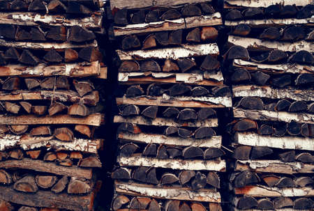 stack of firewood: a stack of different firewood
