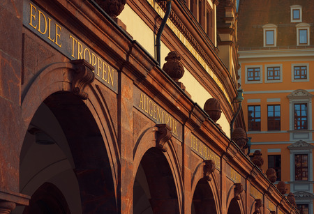 Detail from the old Town Hall in Leipzig