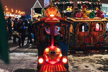 Childrens railway on New Years festivities Minsk