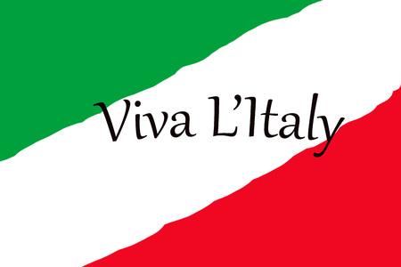 Italian tricolor flag on abstract image Viva Italy letter. Republic Day on June 2 版權商用圖片