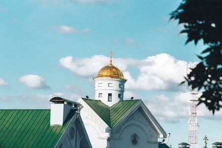 The building of the Orthodox Church against the blue sky