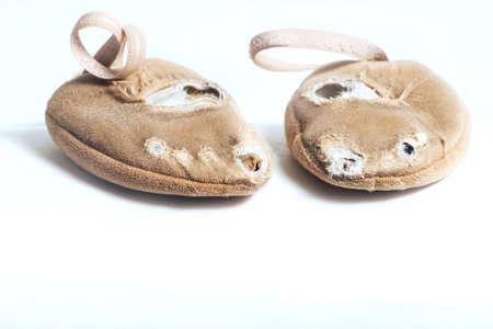 Shoes for rhythmic gymnastics very worn Active use 版權商用圖片