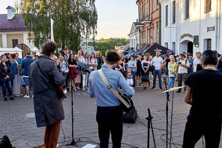 June 1, 2019 Minsk Belarus Festivities in the city on the day of Swedish culture