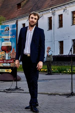 May 25, 2019 Minsk Belarus Street festivities in the evening city 版權商用圖片 - 165009962