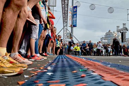 Half Marathon Minsk 2019 Running in the city 版權商用圖片 - 165009956