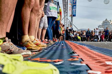 Half Marathon Minsk 2019 Running in the city 版權商用圖片 - 163033793