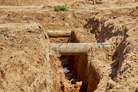 During the reconstruction of the water supply system two old water pipes were found in the ground