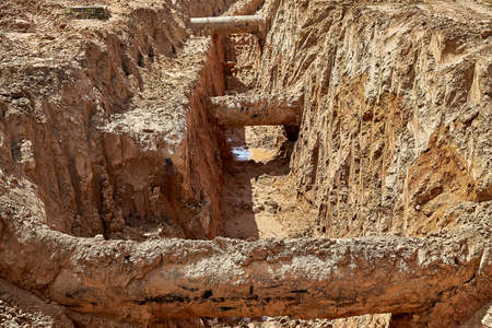 During the reconstruction of the water supply system three old water pipes were found in the ground