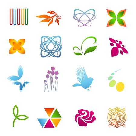rainbow sphere: Design elements. Icon set