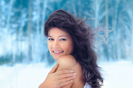 Beautiful winter girl photo