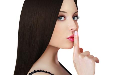 stil zijn: Mooi Meisje gezicht