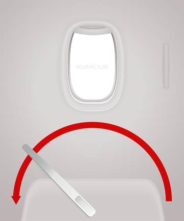 view from the plane: Aircraft door Illustration