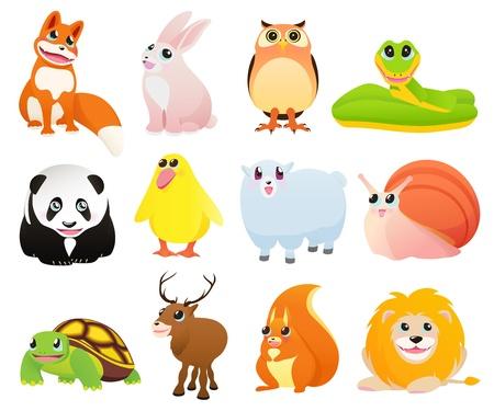 bruchi: Cartoon animali Vettoriali