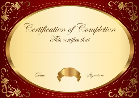 diplomas: Certificate of completion template  Vector Illustration