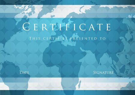 fondo de graduacion: Certificado de finalización plantilla de Vector