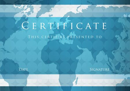 certificate template: Certificate of completion template  Vector Illustration