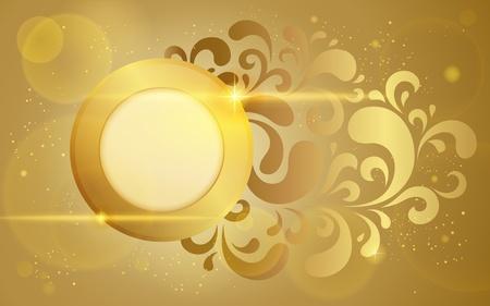 Gold vector background Stock Vector - 12489657
