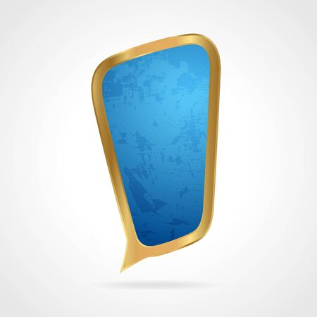 Golden speech bubble Vector