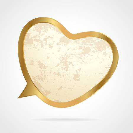 Golden speech bubbleGolden speech bubble Vector