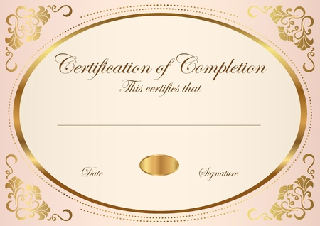 Certificate of completion template  Vector Stock Vector - 12489639