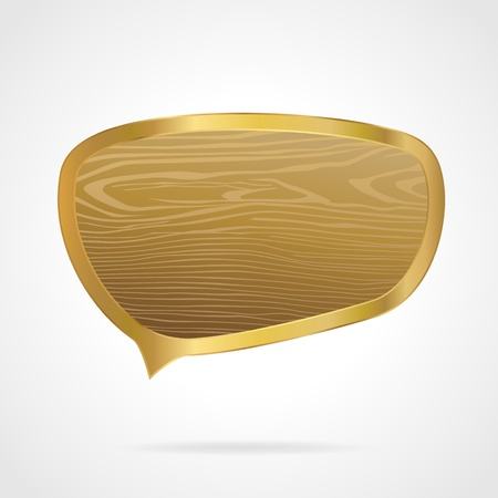 Golden speech bubble Stock Vector - 12488802