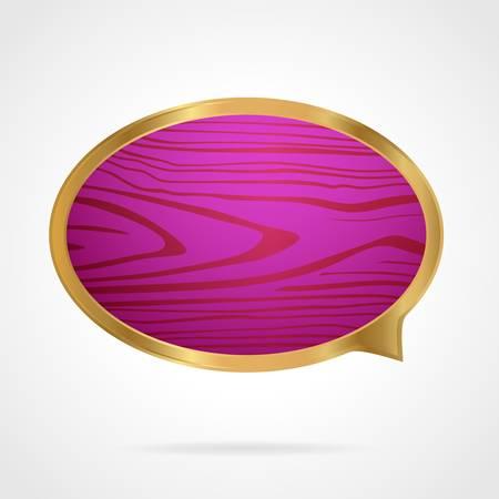 Golden speech bubble Vector