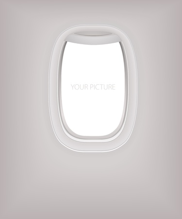 airplane window: Porthole Illustration