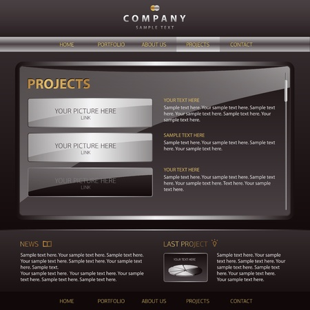 web site design template: Vector Website Design Template
