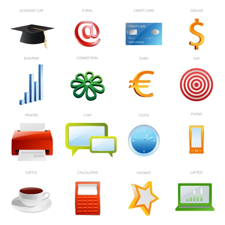 Set of business icon Stock Vector - 12489595