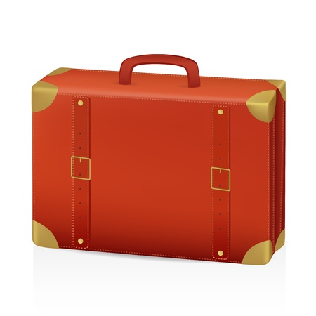 packing suitcase: Vecchia valigia Illustrazione Vettoriale