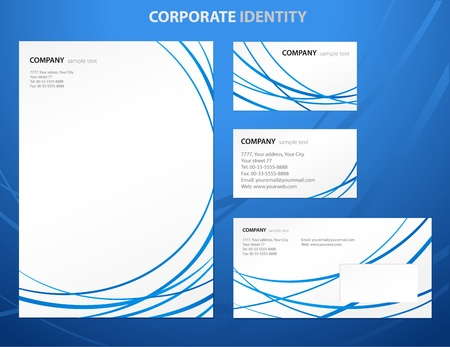 Business style templates with abstract lines Vector