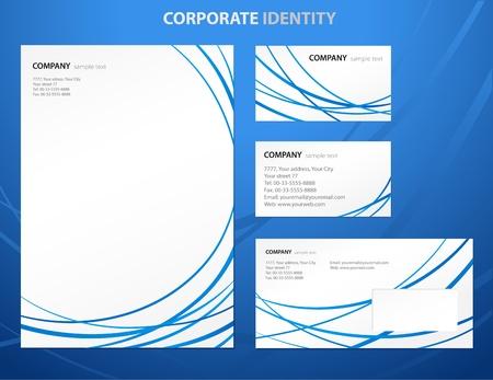 papier en t�te: Mod�les de style d'affaires avec Vecteur lignes abstraites Illustration