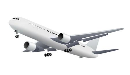 jet plane: Isolated aircraft Illustration