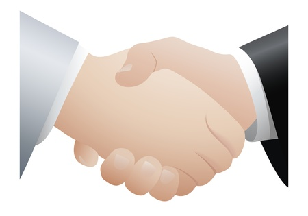Handshaking. Vector illustration Stock Vector - 12489602