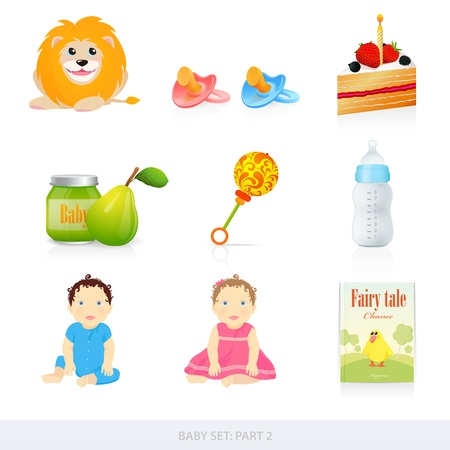 Baby icons Stock Vector - 12489510