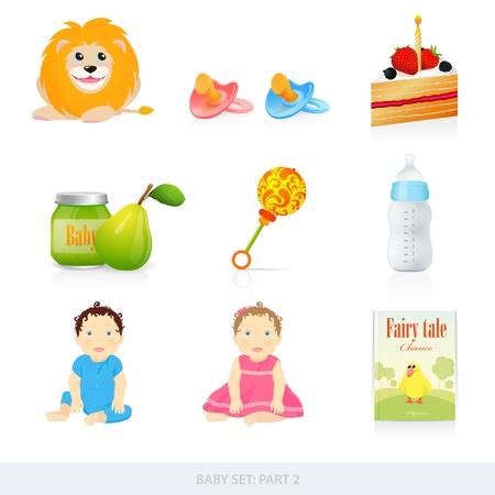 Iconos del bebé Ilustración de vector
