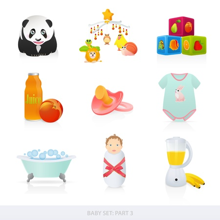 baby bath: Baby icons