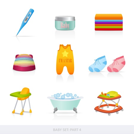Baby icons Stock Vector - 12489557