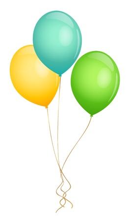 globos de cumpleaños: Globos ilustración vectorial Vectores