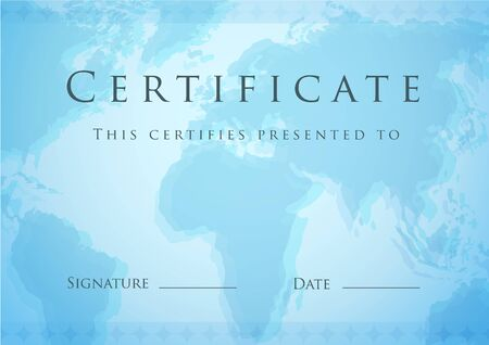 Template of Certificate Vector