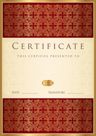 certificate frame: Template of Certificate