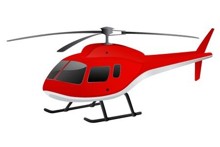 transpozycji: Czerwony helikopter. Ilustracji wektorowych