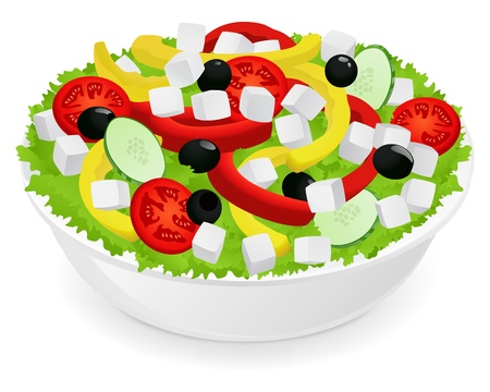 dishes: Vegetable salad