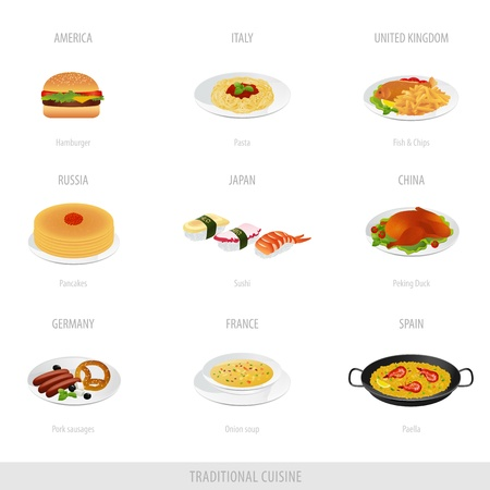 Traditional cuisine  Part 1 Vector
