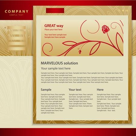 Vector Website Design Template Stock Vector - 12489497
