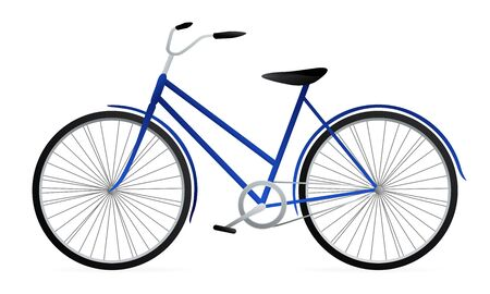 velocipede: Blue Bicycle. Vector illustration on white background Illustration