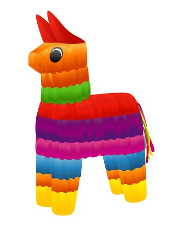 pinata: Pinata. Vector illustration on white background