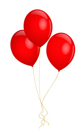 Red balloons. Vector illustration on white background Stock Vector - 12747766